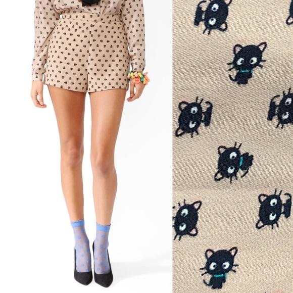 c80d8faa1 Forever 21 Sanrio Shorts | Hello Kitty Forever 21 Chococat | Poshmark